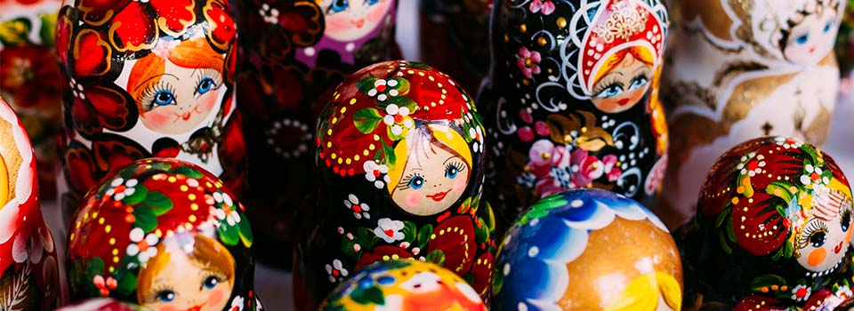 Matrioshka Puppen aus Russland