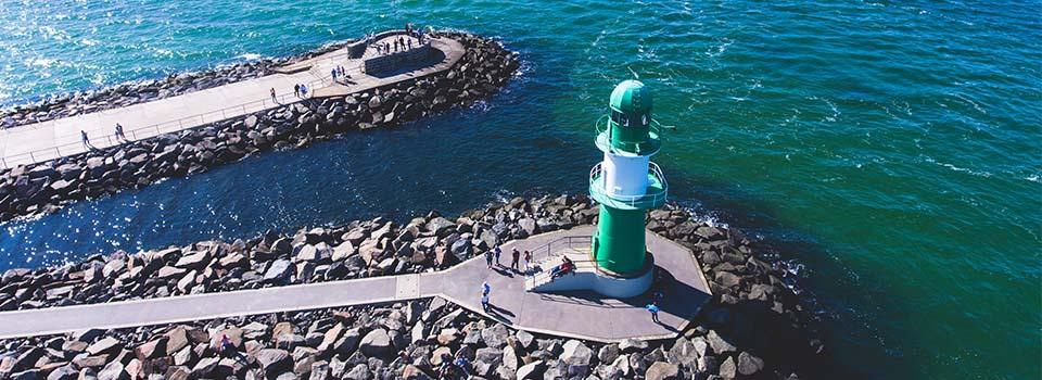 Kreuzfahrt ab Warnemünde: Sehenswürdigkeit Leuchtturm
