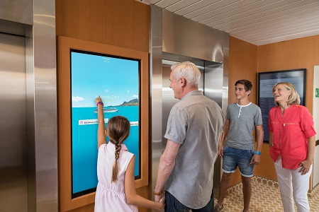 Ocean Compass am Touch-Screen